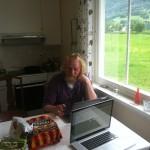 PC på kjøkenet